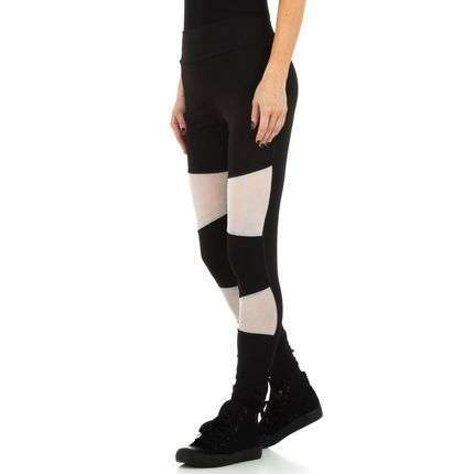 Damen Leggings with net front