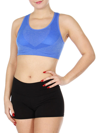 Circle back sports bra Blue