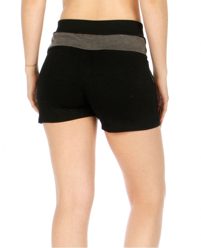 Button Accent Fleece Shorts w/ Pockets