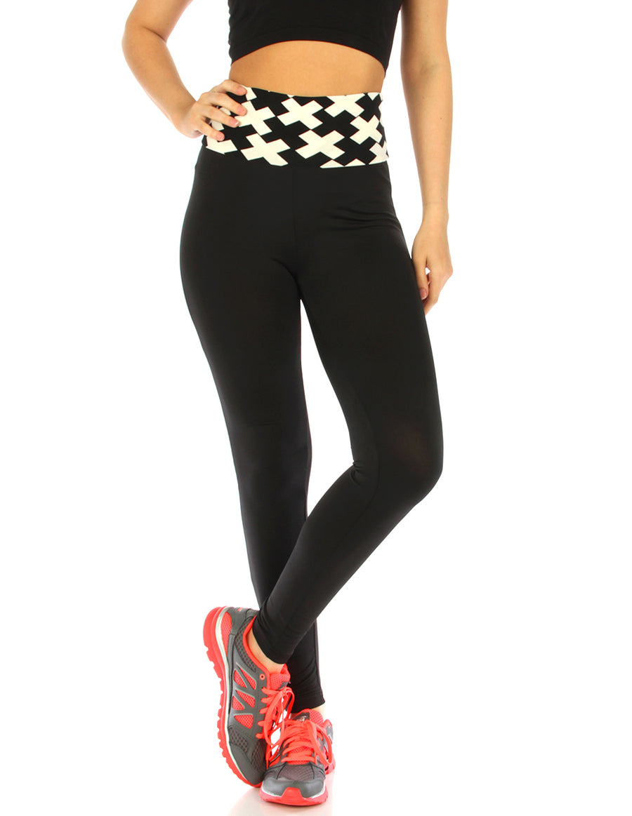 Double-Layer waistband yoga pants