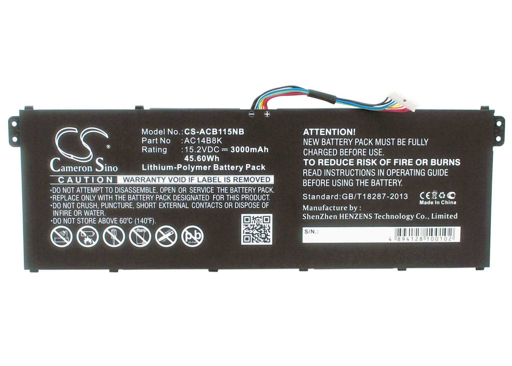 Acer Aspire ES1-311 Battery - BG-ACB115NB2
