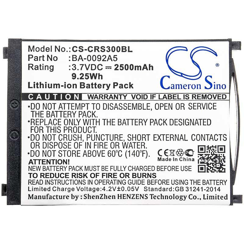 CipherLab KBRS300X01503 Battery - BG-CRS300BL3