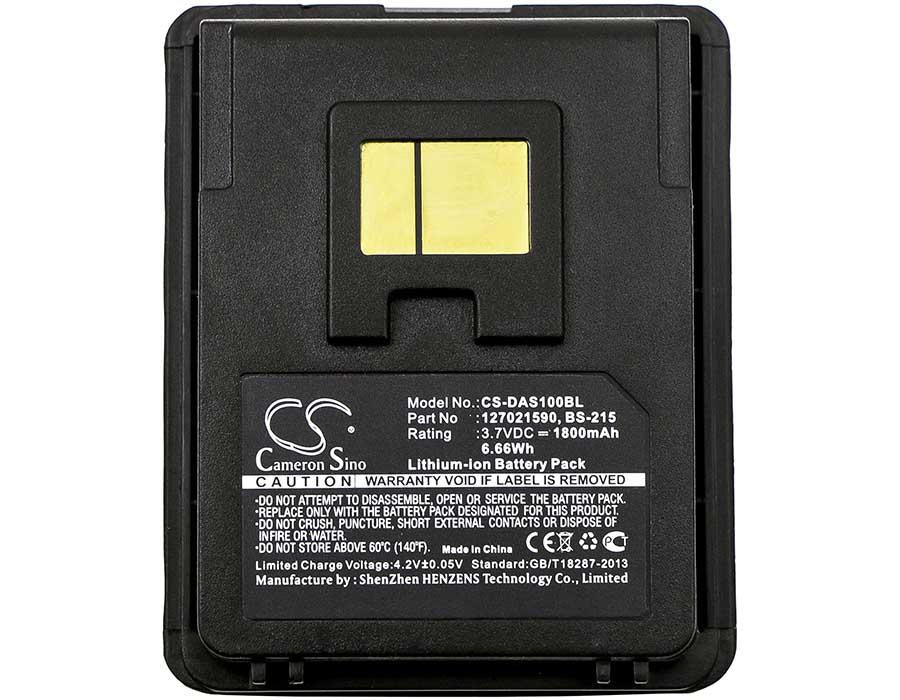 Datalogic 127021590 Battery - BG-DAS100BL3