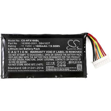Load image into Gallery viewer, Honeywell 163890-0001 Battery - BG-HFX100BL2