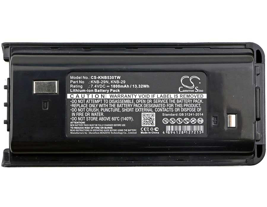 Kenwood TK-3301E Battery - BG-KNB530TW3