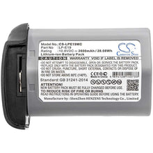 Load image into Gallery viewer, Canon 1DS Mark 3 Battery - BG-LPE19MC3
