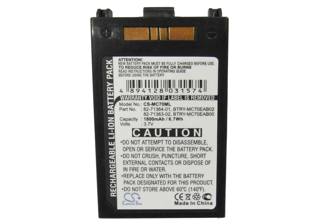 Motorola Symbol BTRY-MC7XEAB0H Battery - BG-MC70ML3