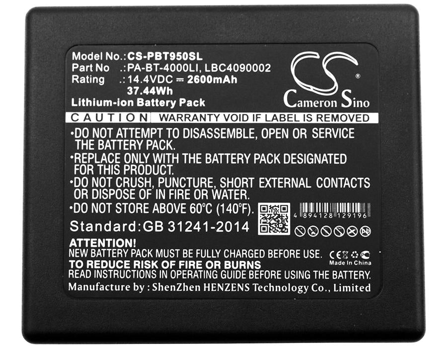 Brother P touch P 950 NW RuggedJet RJ Battery - BG-PBT950SL3