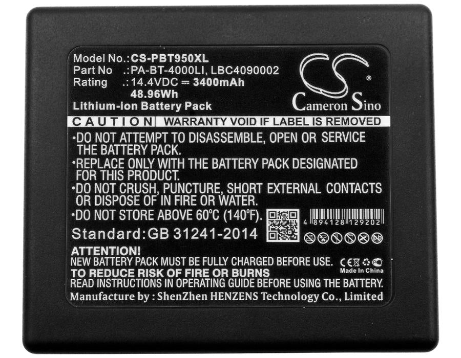 Brother RuggedJet RJ4040-K Battery - BG-PBT950XL3
