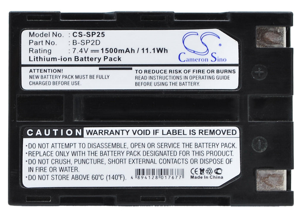 Canon B-SP2D Battery - BG-SP253