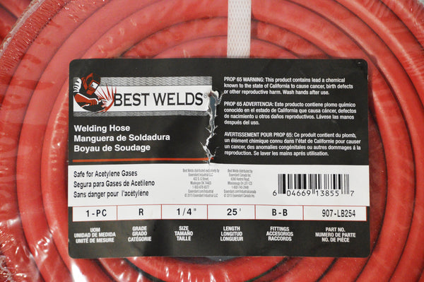 Best Welds Torch Hose- Fitting B-B:  907-LB254 907-LB504
