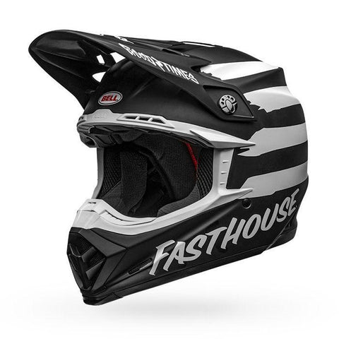 Fasthouse X Bell Moto-9 Mips Signia Helmet Black/White