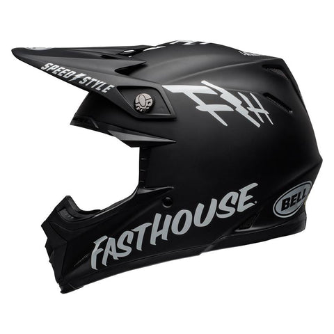 Fasthouse Youth Helmet Moto-9 Mips Black/White