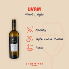 Uvam White Wine by Casa Wines