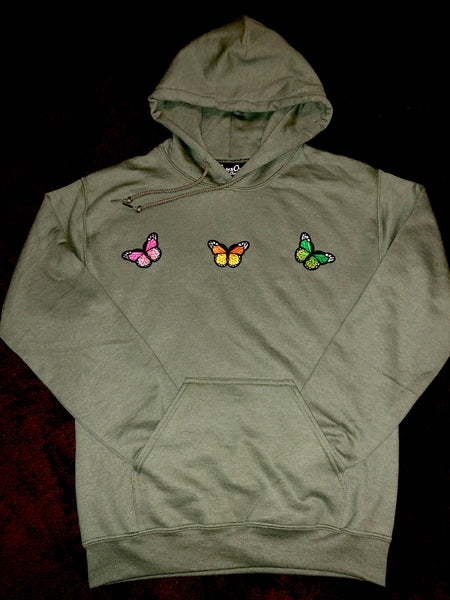 Butterflies / Army Green