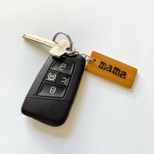 Load image into Gallery viewer, MAMA WOOD KEYCHAIN