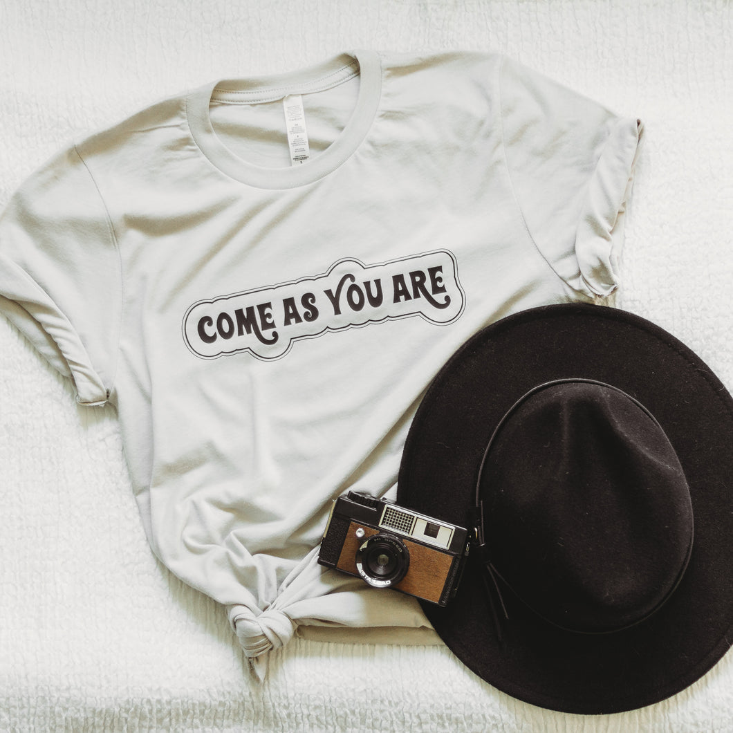 COME AS YOU ARE ADULT TEE