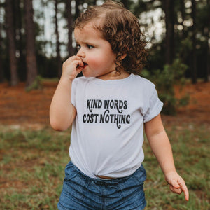KIND WORDS COST NOTHING KIDS TEE