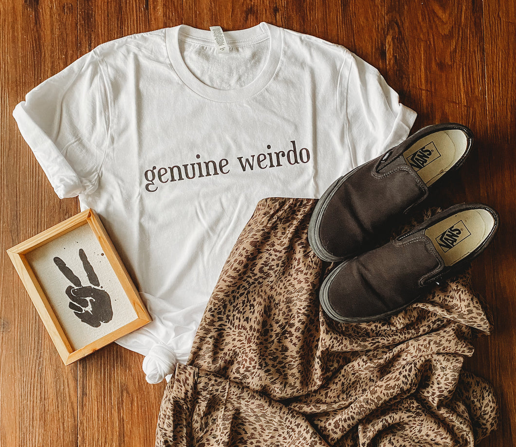 GENUINE WEIRDO ADULT TEE