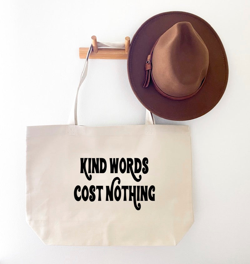 KIND WORDS CANVAS TOTE BAG