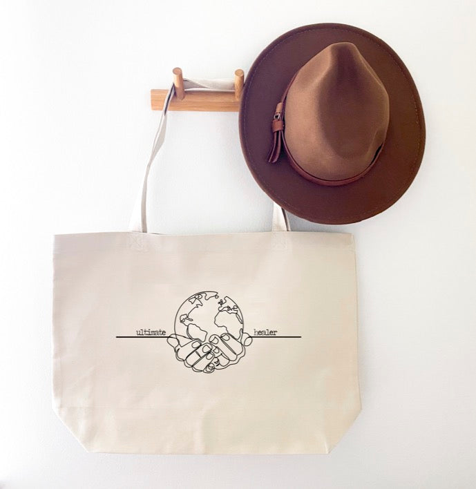 EARTH ULTIMATE HEARLER MORE CANVAS TOTE BAG