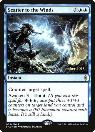Scatter to the Winds [Battle for Zendikar Promos] | Nerdz Cafe