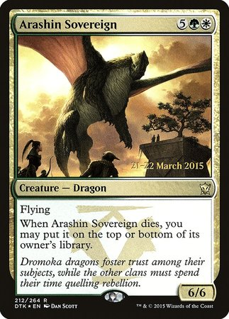 Arashin Sovereign [Dragons of Tarkir Promos] | Nerdz Cafe