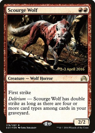 Scourge Wolf [Shadows over Innistrad Promos] | Nerdz Cafe