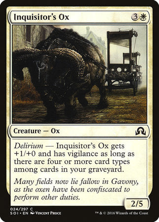 Inquisitor's Ox [Shadows over Innistrad] | Nerdz Cafe