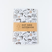Load image into Gallery viewer, Coffee Doodle | Large Dotted Notebook