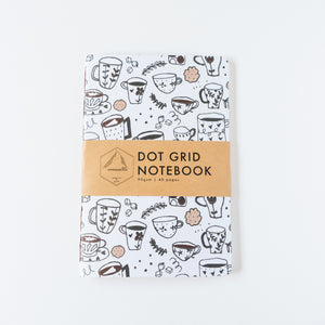 Coffee Doodle | Large Dotted Notebook