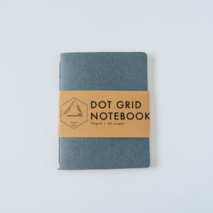 Dark Gray Canvas | Small Dotted Notebook