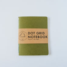 Load image into Gallery viewer, Dark Green Canvas | Small Dotted Notebook