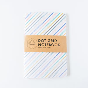 Diagonal Stripes | Large Dotted Notebook