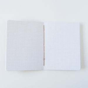 Dark Green Canvas | Small Dotted Notebook