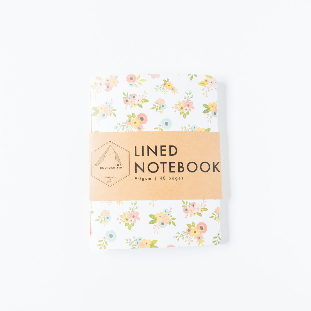 Floral | Small Lined Notebook
