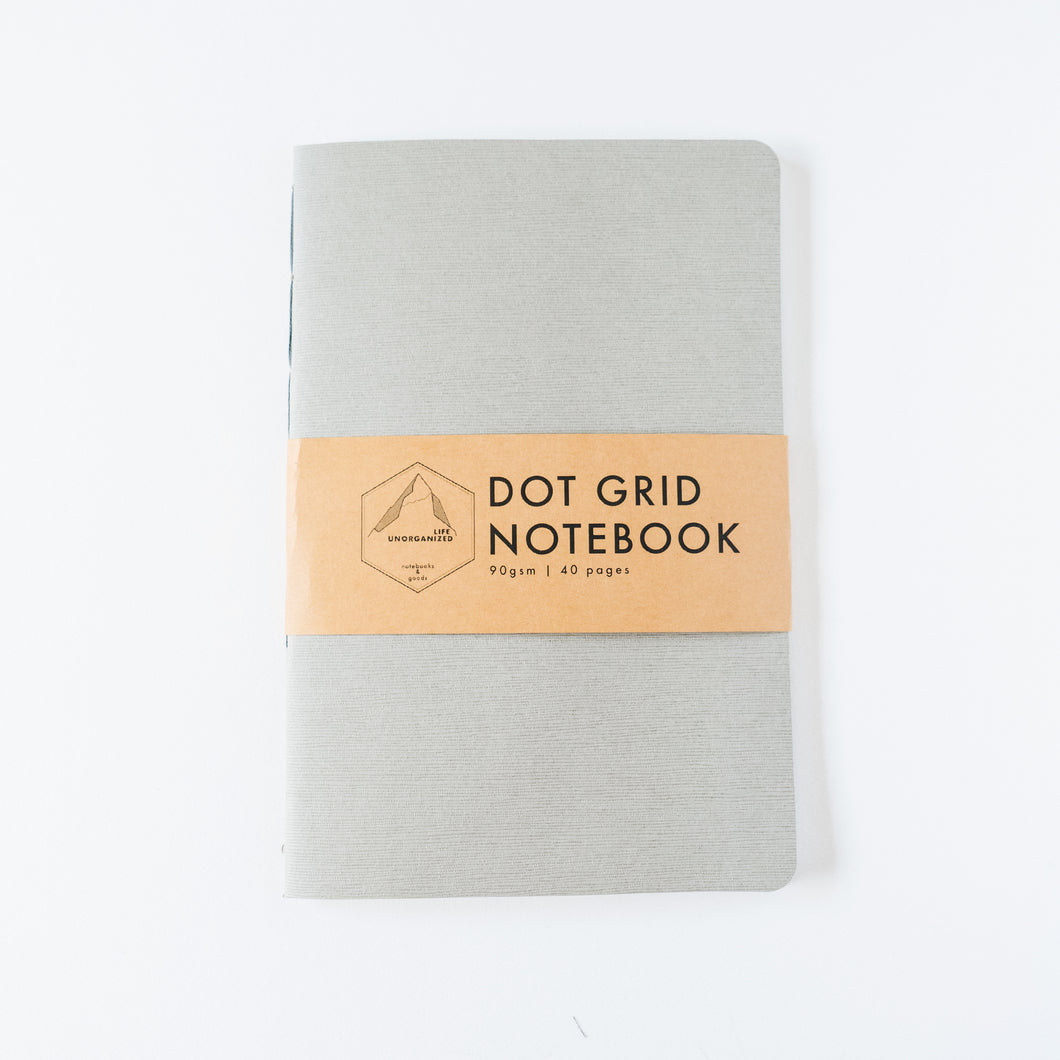 Gray Canvas | Large Dotted Notebook