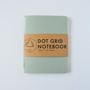 Mint Green Canvas | Small Dotted Notebook