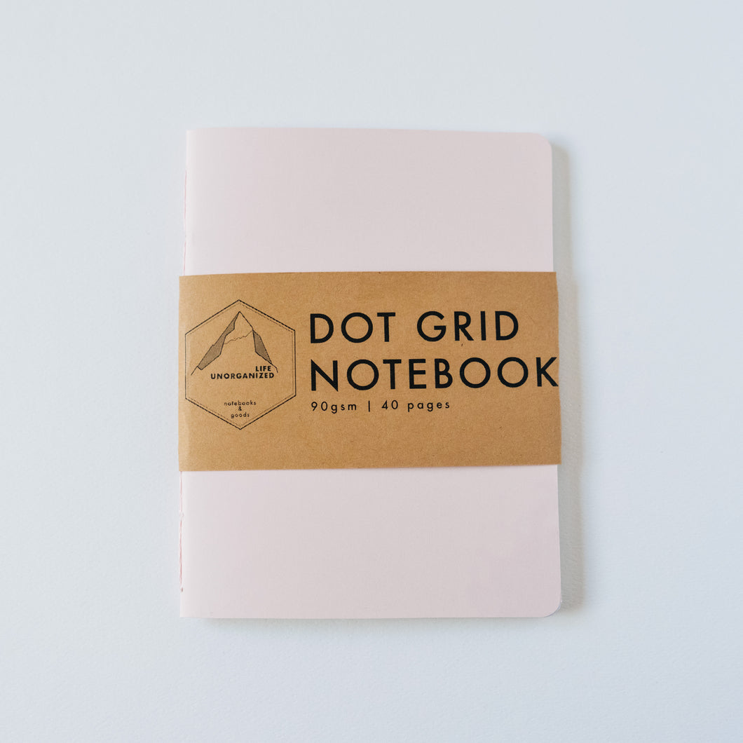 Pink Ivory | Small Dotted Notebook