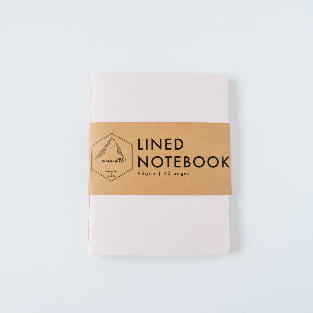 Pink Ivory | Small Lined Notebook