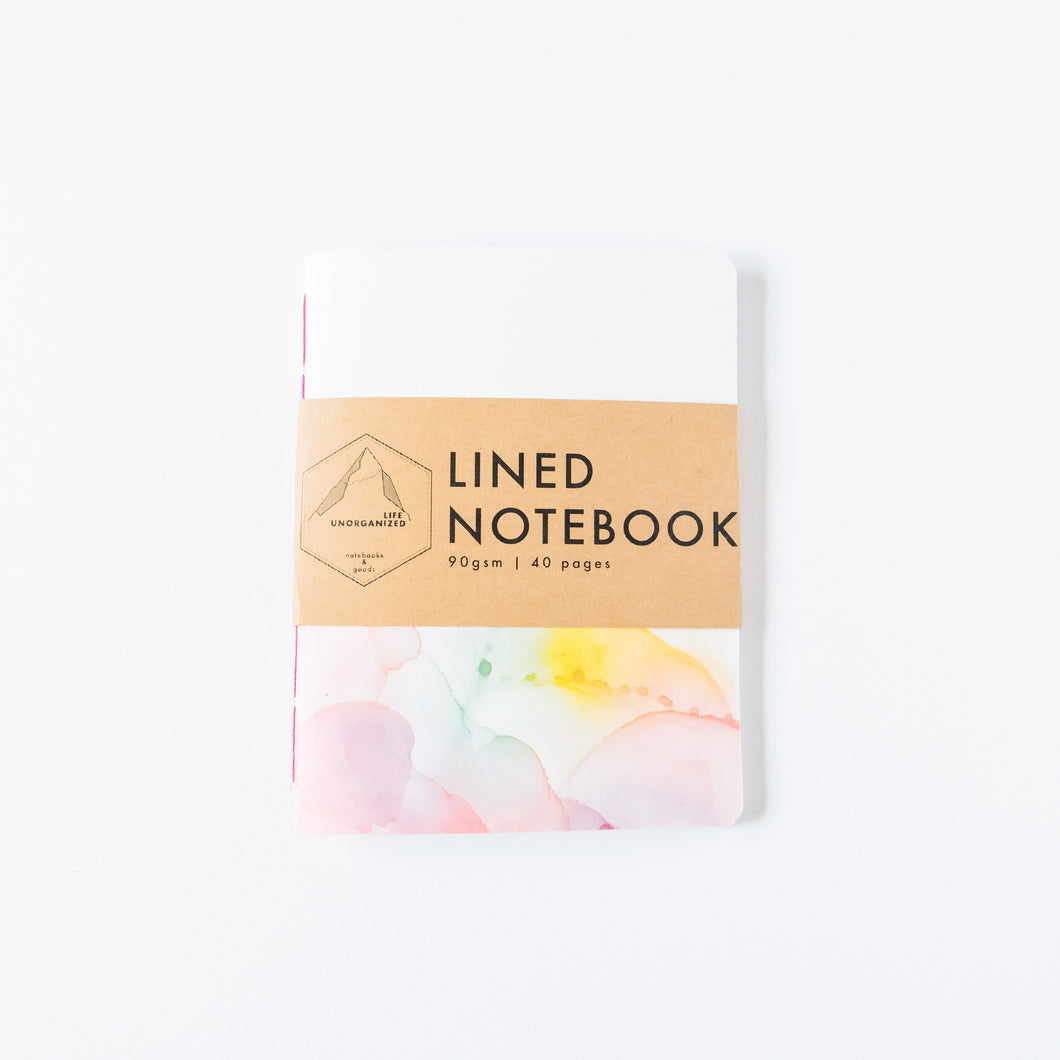 Rainbow Ink | Small Lined Notebook