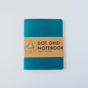 Turquoise Canvas | Small Dotted Notebook