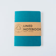 Load image into Gallery viewer, Turquoise Canvas | Small Lined Notebook