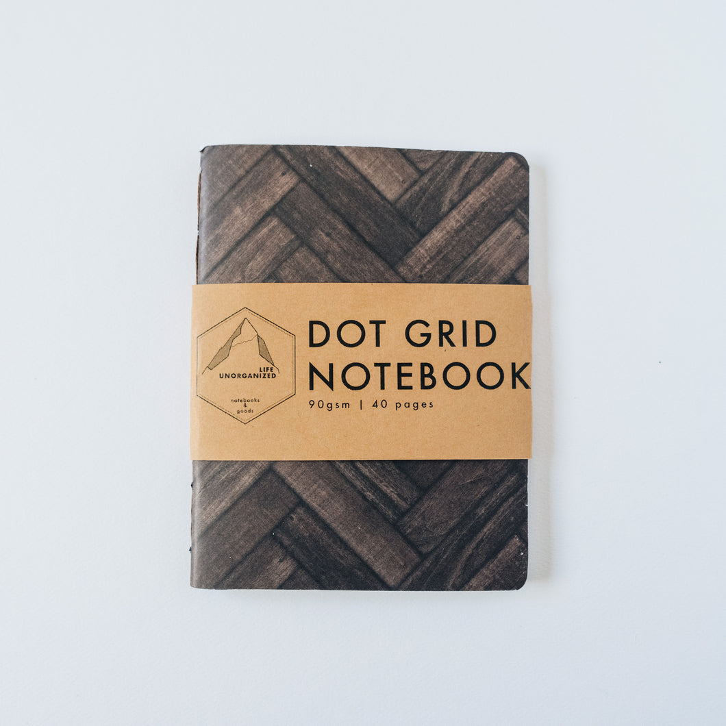 Wood Chevron | Small Lined Notebook