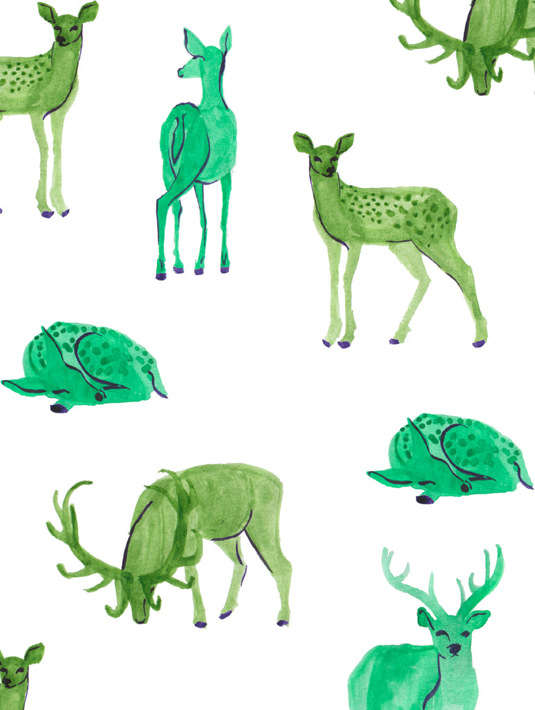 Thumnail view of deer animal print, by Annchen Bronkowski