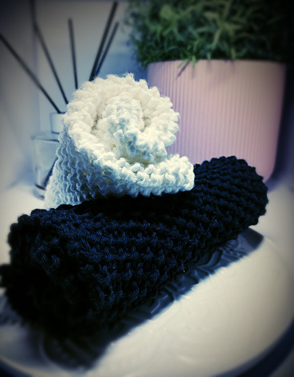Knitted Bamboo/Cotton Wash Cloth