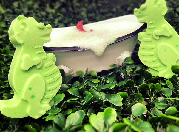 Mini U Dino ROAR Raspberry & Vanilla Shea Butter Soap