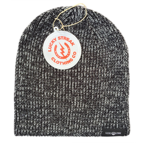 Soft Lucky Beanie Black and Grey