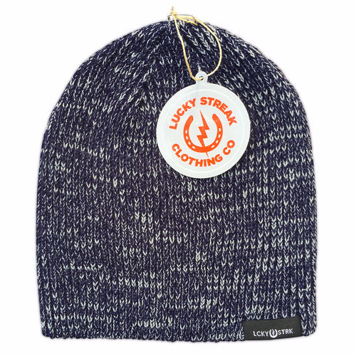 Soft Lucky Beanie Navy and Grey