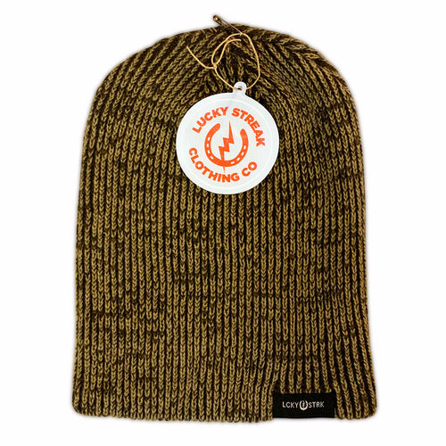 Soft Lucky Beanie Brown and Khaki